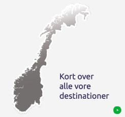 Omrade Kort Norsk Hytte Udlejning